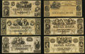 Obsoletes By State:Louisiana, LA- Lot of 11 New Orleans Canal & Banking Company Remainder Notes. . ... (Total: 11 notes)
