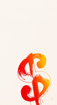 Andy Warhol (1928-1987) Dollar Sign ($) (Orange and Red), 1982 Screenprint on paperboard 40 x 22