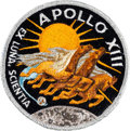 Explorers:Space Exploration, Apollo 13 Flown Embroidered Mission Insignia Patch Directly from the Personal Collection of Mission Commander James Lovell, Si...