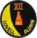 Explorers:Space Exploration, Gemini 12 Flown Embroidered Mission Insignia Patch Directly fromthe Personal Collection of Mission Commander James Lovell, Si...
