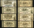 Obsoletes By State:Louisiana, LA- Lot of 8 New Orleans, Jackson & Great Northern Rail Road Company, New Orleans Nov. 16, 1861 Scrip. . ... (Total: 8 notes)