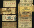 Obsoletes By State:Louisiana, LA - Lot of 9 Low Grade Louisiana Civil War Scrip Notes. . ... (Total: 9 notes)