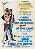 "Movie Posters:Crime, How to Steal a Million (20th Century Fox, 1966). Italian 2 - Fogli(39.25"" X 55.25""). Crime.. ..."