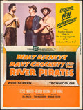 "Movie Posters:Adventure, Davy Crockett and the River Pirates (Buena Vista, 1956). Poster(30"" X 40""). Adventure.. ..."