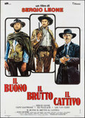 """Movie Posters:Western, The Good, the Bad and the Ugly (United Artists, R-1972). Italian 4 - Fogli (55.25"""" X 77.25""""). Western.. ..."""