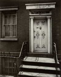 Berenice Abbott (American, 1898-1991) Doorway: 204 West 13th Street, between Seventh and Greenwich Avenues, May
