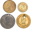 Political:Tokens & Medals, Abraham Lincoln: Four Campaign Tokens.... (Total: 4 Items)
