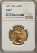 Modern Bullion Coins, 1995 $25 Half-Ounce Gold Eagle MS67 NGC. NGC Census: (54/2820). PCGS Population: (61/787). Mintage 53,474. ...