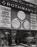 Photographs, Berenice Abbott (American, 1898-1991). Rothman's Pawn Shop, 149 Eight Avenue, May 18, 1938. Gelatin silver. 9-3/8 x 7-3/...