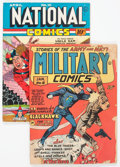 Golden Age (1938-1955):War, Military Comics #6/National Comics #10 Group (Quality, 1941-42).... (Total: 2 Comic Books)