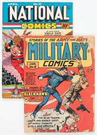 Military Comics #6/National Comics #10 Group (Quality, 1941-42).... (Total: 2 Comic Books)