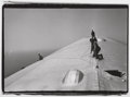 Photographs:Gelatin Silver, Alfred Eisenstaedt (American, 1898-1995). Repairing the Hull of the Graf Zeppelin during the flight over the Atlantic, 1...