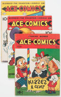 Golden Age (1938-1955):Miscellaneous, Ace Comics Group of 12 (David McKay Publications, 1940-42) Condition: Average VG.... (Total: 12 Comic Books)
