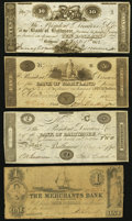 Obsoletes By State:Maryland, MD- Lot of 4 Baltimore Counterfeit Notes. . ... (Total: 4 notes)
