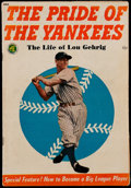Baseball Collectibles:Publications, The Pride of the Yankees Lou Gehrig Comic Book. ...