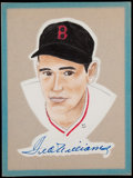 Baseball Collectibles:Others, Ted Williams Signed Original Artwork by Bob Wright. ...
