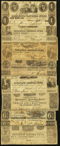 Obsoletes By State:Maryland, MD- Lot of 8 Baltimore Savings Fund Hard Times Era Scrip.. ... (Total: 8 notes)