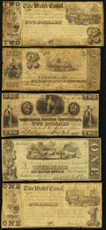 Obsoletes By State:Maryland, MD- Lot of 5 Baltimore Banknote Size Hard Times Era Scrip. . ... (Total: 5 notes)