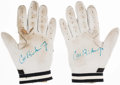 Autographs:Others, Cal Ripken Jr. (Attributed) Game Worn Signed Batting Gloves (2)....