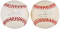 Autographs:Baseballs, Pitching Greats Dennis Eckersley and Jimmy Key Single SignedBaseballs Lot of 2. ...