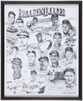 Autographs:Others, Brooklyn Dodgers Multi-Signed Oversized Lithograph - Numbered outof 300. ...