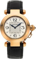 Timepieces:Wristwatch, Cartier Ref. 2811 Lady's Gold 32 mm Diamond Dial Pasha. ...