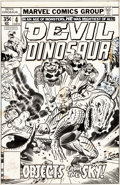 Original Comic Art:Covers, Jack Kirby and Joe Sinnott Devil Dinosaur #4 Cover OriginalArt (Marvel, 1978)....