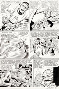 Original Comic Art:Panel Pages, Jack Kirby and George Roussos (as Geo. Bell) Fantastic Four#27 Story Page 7 Original Art (Marvel, 1964)....