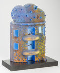 Art Glass:Other , Bertil Vallien (Swedish, b. 1938). Untitled, circa 1990,Kosta Boda. Sandcast glass with enamel and foil inclusions on a...
