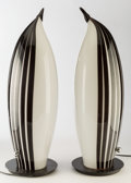 Art Glass:Other , Pair of Murano Glass Penguin Lamps. Last quarter 20th century. Ht.24-1/2 in.. ... (Total: 2 Items)