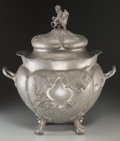 Decorative Arts, Continental:Other , Large Kayserzinn Pewter Lidded Urn. Circa 1900. Stamped KAYSERZINN.Ht. 22 in.. PROPERTY FROM THE COLLECTION OF BILL LEAZE...