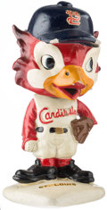 Baseball Collectibles:Others, 1961-63 St. Louis Cardinals White Base Nodder....