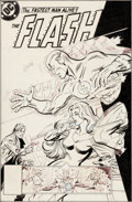 Original Comic Art:Covers, Don Heck and Dick Giordano Flash #290 Cover Firestorm Original Art (DC, 1980)....