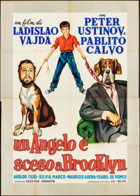 "The Man Who Wagged His Tail & Other Lot (CEI-INCOM, 1957). Italian 4 - Fogli (52.5"" X 73.75"") & First..."
