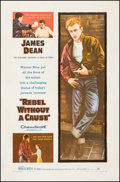 "Movie Posters:Drama, Rebel without a Cause (Warner Brothers, 1955). One Sheet (27"" X41""). Drama.. ..."