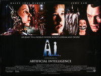 """A. I. Artificial Intelligence (Warner Brothers, 2001). British Quad (30"""" X 40"""") DS. Science Fiction"""