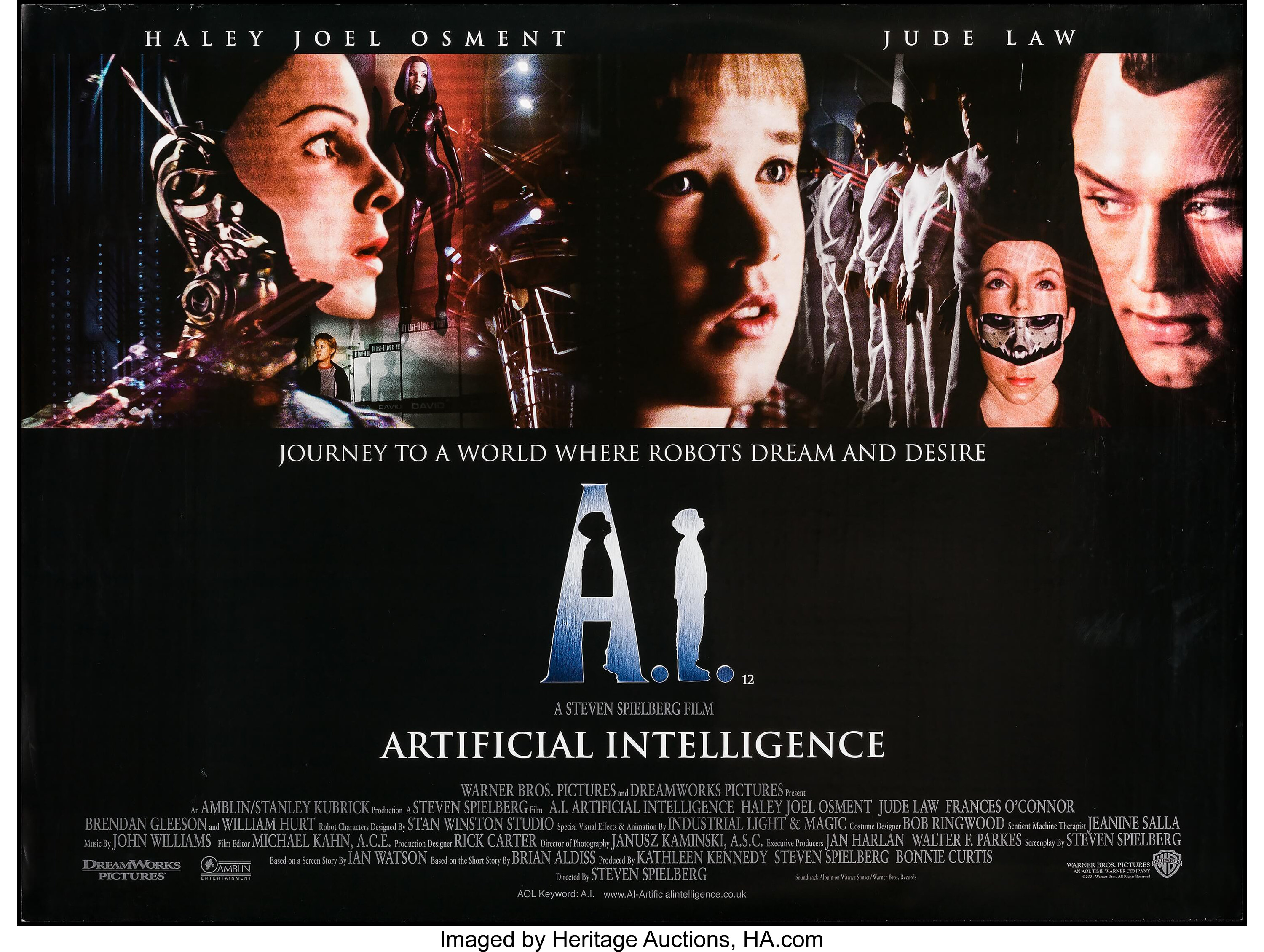 A I Artificial Intelligence Warner Brothers 2001 British Quad Lot 55008 Heritage Auctions