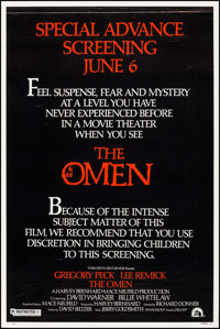 "The Omen (20th Century Fox, 1976). Poster (40"" X 60"") Style A. Horror"