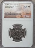 Ancients:Roman Provincial , Ancients: EGYPT. Alexandria. Maximinus I (AD 235-238). BItetradrachm. NGC Choice XF....