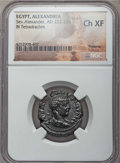 Ancients:Roman Provincial , Ancients: EGYPT. Alexandria. Severus Alexander (AD 222-235). BItetradrachm. NGC Choice XF....
