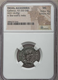 Ancients:Roman Provincial , Ancients: TROAS. Alexandria. Gallienus (AD 253-268). AE 21 mm (4.69gm). NGC MS 4/5 - 4/5....