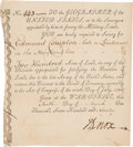 Autographs:Statesmen, Secretary of War Henry Knox Document Signed....