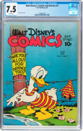 Golden Age (1938-1955):Cartoon Character, Walt Disney's Comics and Stories #21 (Dell, 1942) CGC VF- 7.5 Whitepages....