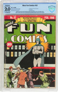 Golden Age (1938-1955):Superhero, More Fun Comics #52 (DC, 1940) CBCS Apparent GD 2.0 Slight to Moderate (A) Off-white to white pages....