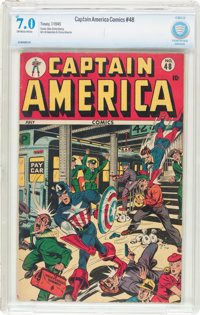 Captain America Comics #48 (Timely, 1945) CBCS FN/VF 7.0 Off-white to white pages