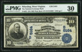 National Bank Notes:West Virginia, Wheeling, WV - $10 1902 Plain Back Fr. 632 The National ExchangeBank Ch. # (S)5164. ...