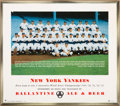 Baseball Collectibles:Others, 1954 New York Yankees Advertising Team Photograph.. ...