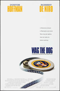 """Wag the Dog & Other Lot (New Line, 1997). Rolled, Very Fine+. One Sheets (2) (27"""" X 41"""" & 39.5 X 26.75..."""