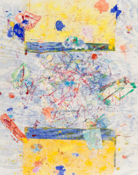 Sam Francis (American, 1923-1994) Untitled, 1983 Monotype with dry pigments, inks, and oils on paper