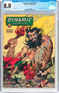 Dynamic Comics #20 (Chesler, 1946) CGC VF 8.0 Off-white to white pages
